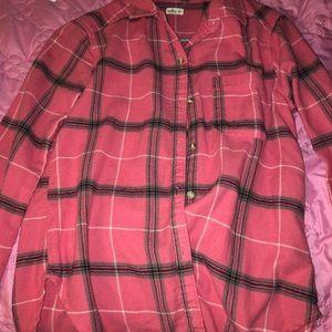 Pink Hollister flannel
